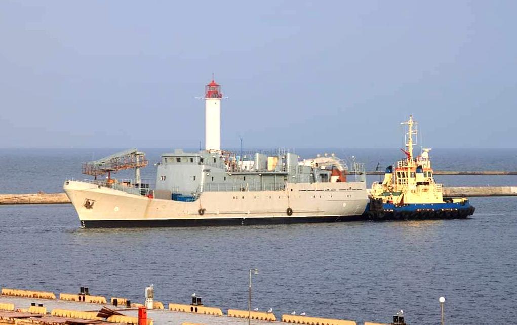 """Корабль сейчас находится в Одесском морском торговом порту / фото: """"Армия Inform"""""""