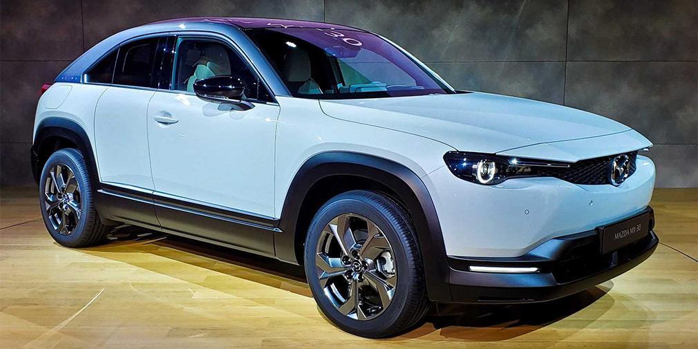 Электрокар Mazda получил необычные двери в стиле RX-8 / фото Mazda, motor1.com