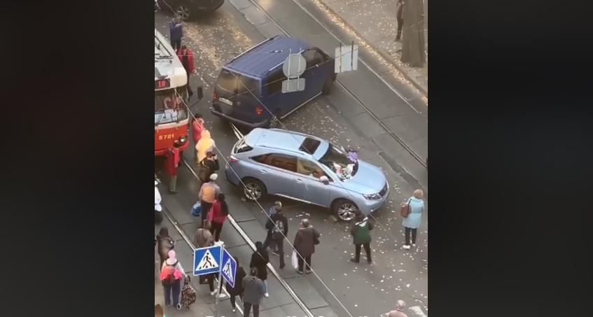 Інцидент стався в Шевченківському районі Києва / скріншот