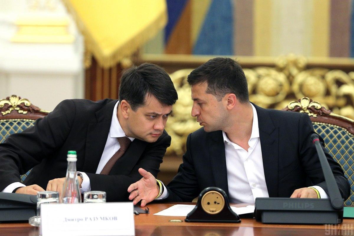 Разумков часто дискутирует с Зеленским / фото УНИАН