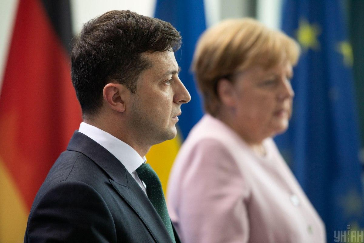 Зеленський поінформував Меркель про безпекову ситуацію на Донбасі / фото УНІАН
