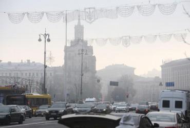 В Киеве сегодня без осадков, температура до +4°