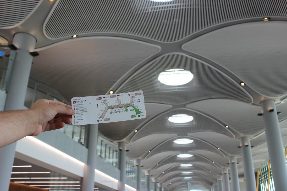 Насправді орієнтуватися в новому аеропорті Стамбула дуже легко / Фото Олександр Куницький