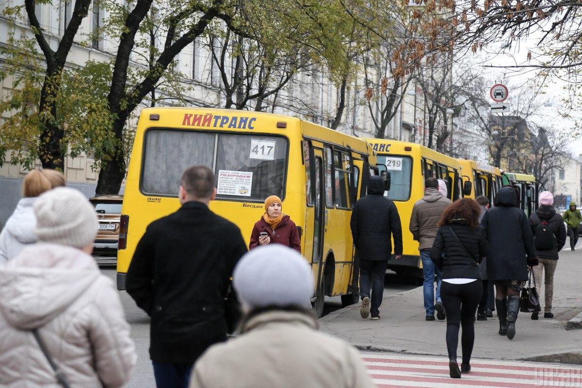 В киевских маршрутках начали устанавливать валидаторы / фото УНИАН