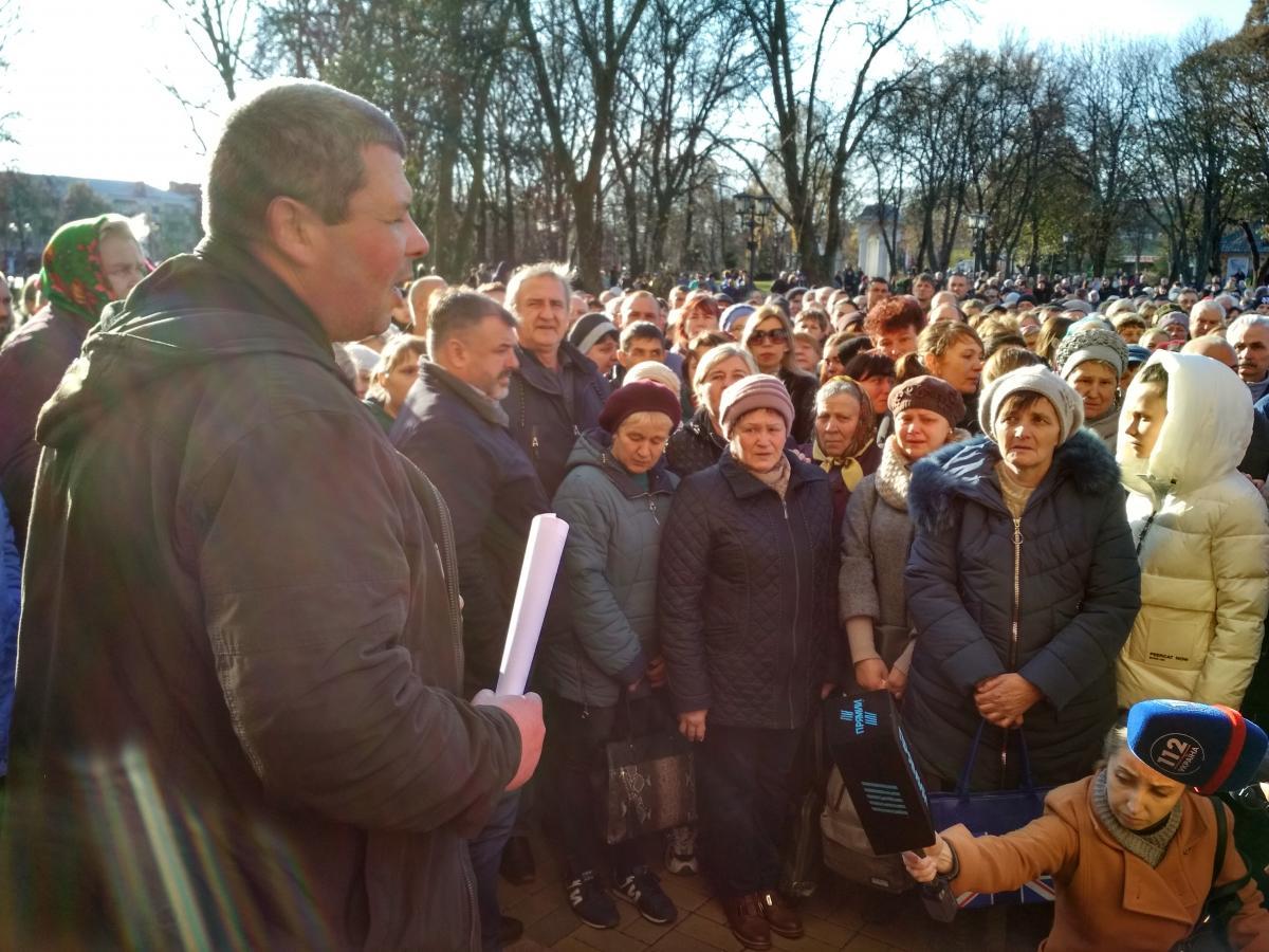 Виктор Чаленко публично поблагодарил своих родных и всех жителей города / фото Ирины Шевченко