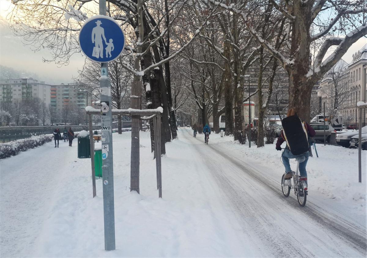 Зима велосипеду не помеха / Фото Марина Григоренко