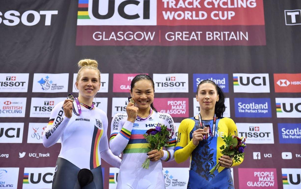 Олена Старікова виграла обидва заїзди за бронзу / фото: twitter.com/UCI_Track