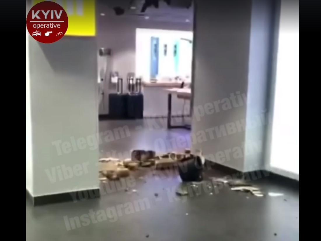 Инцидент произошел в магазине под Майданом Незалежности/ скриншот