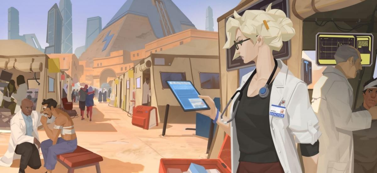 Нова розповідь по всесвіту Overwatch присвячена Ангелу / скріншот