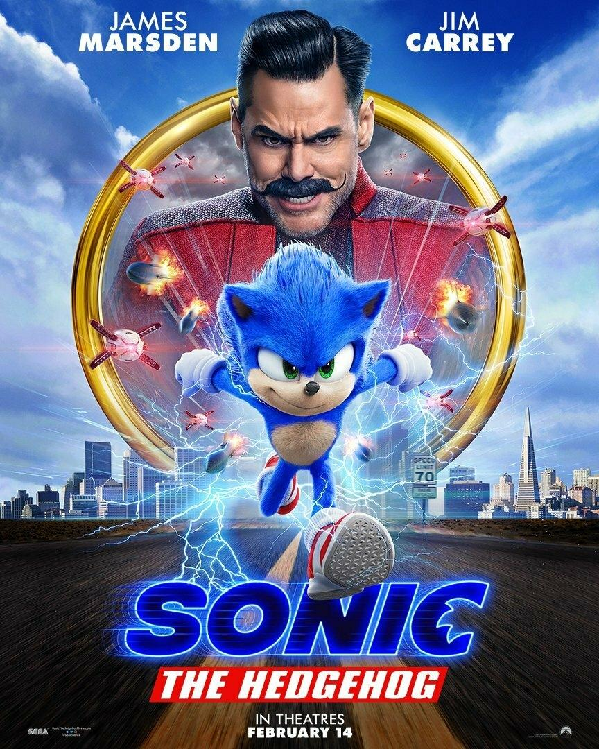 Соник фильм смотреть онлайн новый трейлер фильма Sonic the hedgehog (видео)