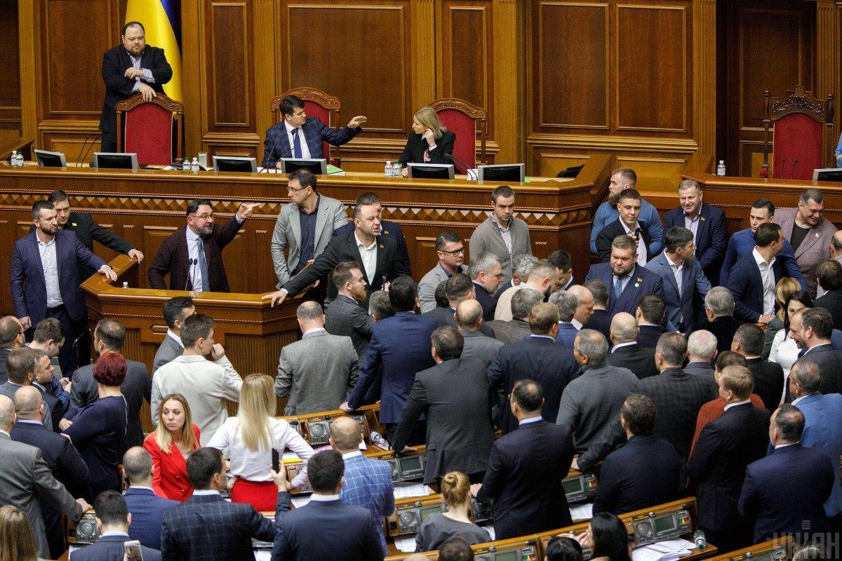 Депутаты продолжили заседание Рады \ УНИАН