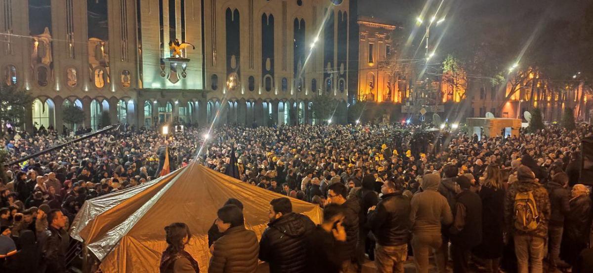 Protests in Tbilisi / Photo by Nikolai Levshits/Channel in Georgia