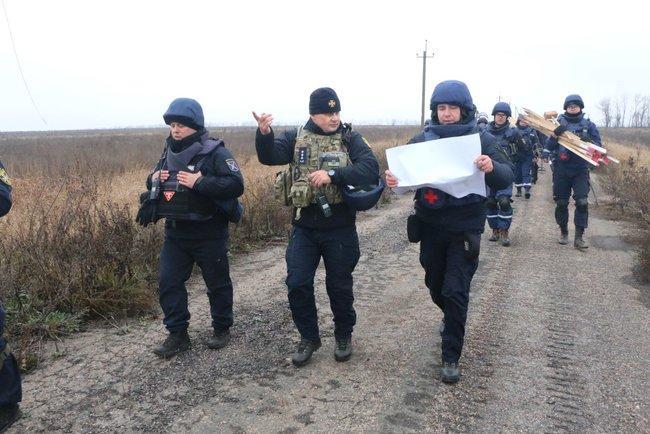 Продолжение обследования загрязненной территории запланировано на 9:00 15 ноября / фото dsns.gov.ua
