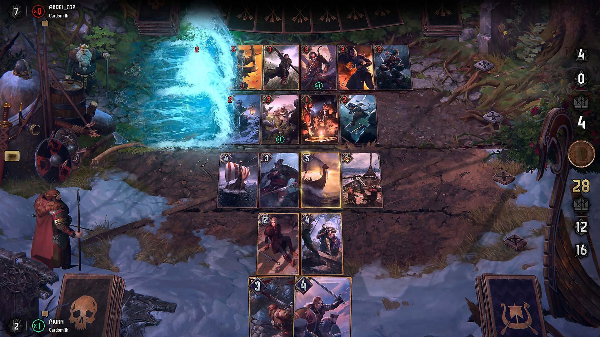 Цель игры в «Гвинт» комбинируя имеющиеся карты добиться превосходства по очкам и победить в двух раундах из трех / playstation.com