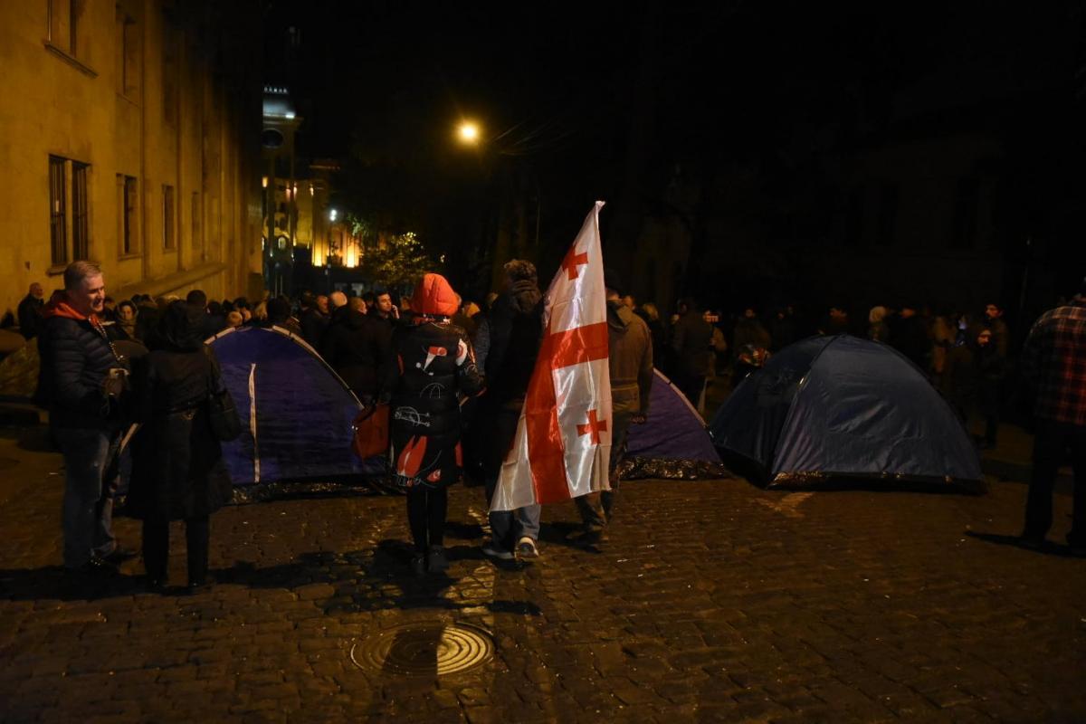 Демонстранты заблокировали парламент / Фото: Владимир Умикашвили/Новости-Грузия