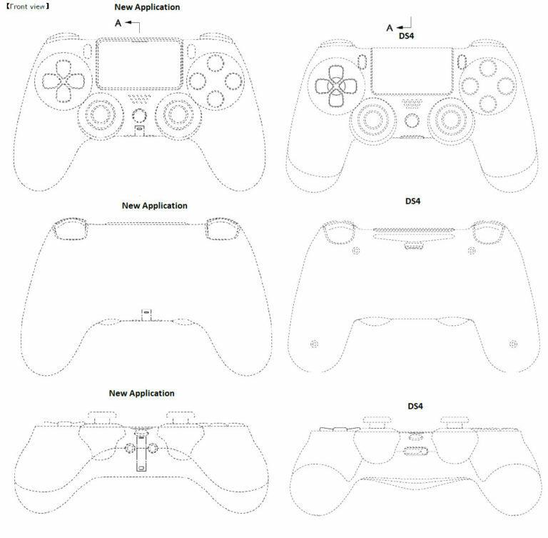 Слева новый геймпад от Sony, справа DualShock 4 / resetera.com