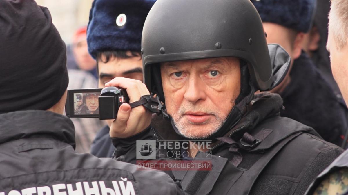 """На Соколове были бронежилет и защитный шлем / фото: """"Невские Новости"""""""