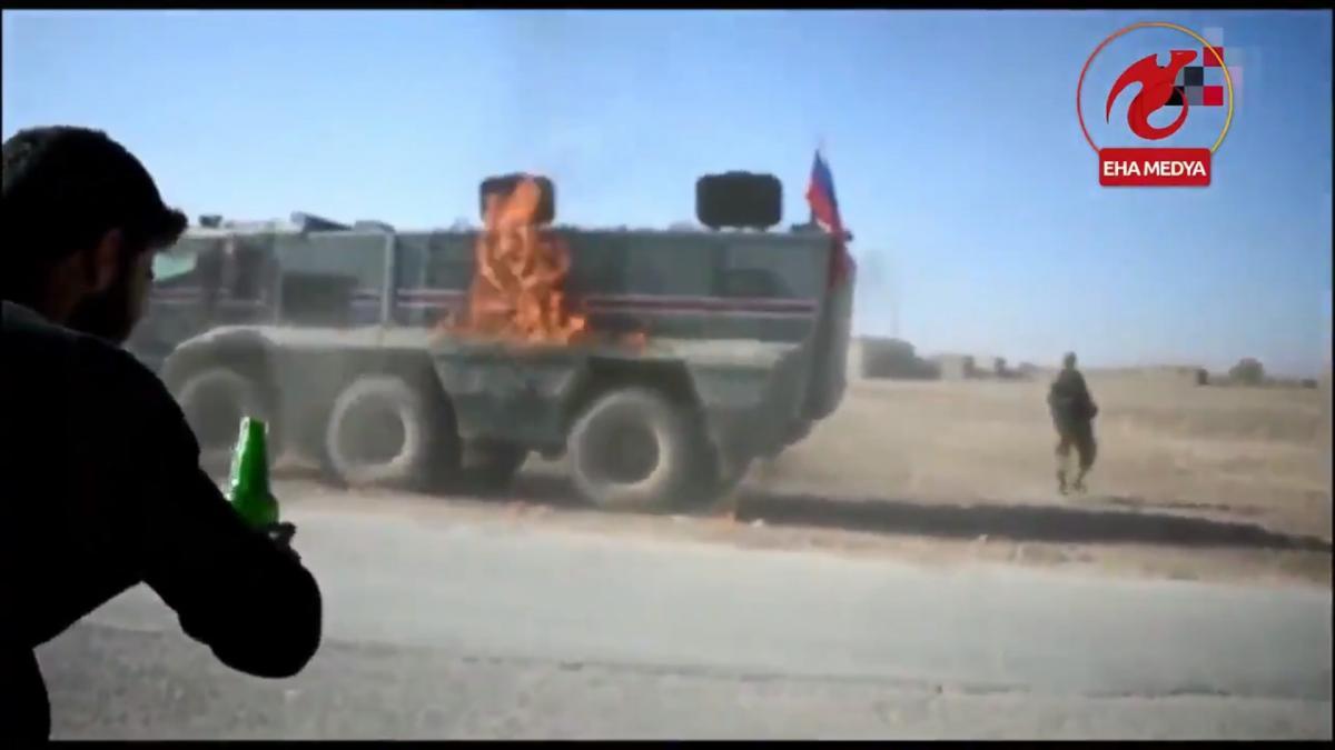 Росіяни патрулювали район Кобаніна схід від Євфрату / скріншот з відео