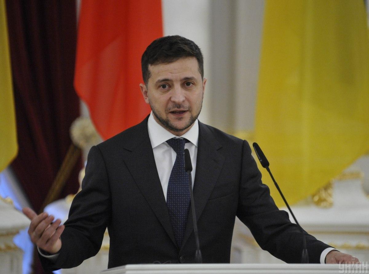 Також Зеленський висловив співчуття родині загиблої студентки / УНІАН