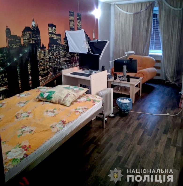 Организаторы арендовали три квартиры и обустроили их под порностудии \ dp.npu.gov.ua