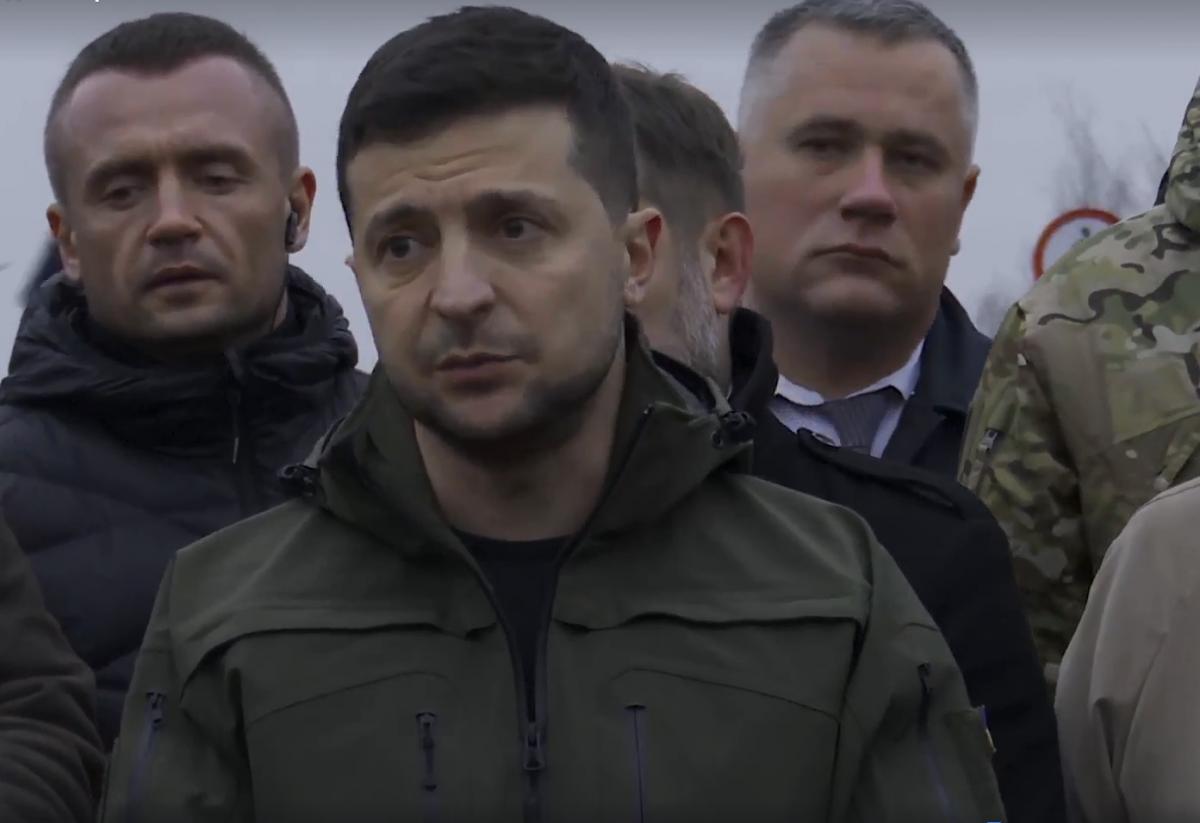 Зеленський взяв участь у відкритті мосту в Станиці Луганській / скріншот