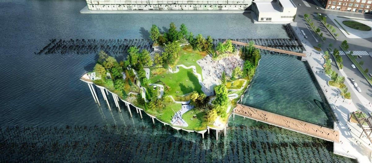 """Парк - """"Маленький остров"""" в Нью_йорку / фото afar.com"""