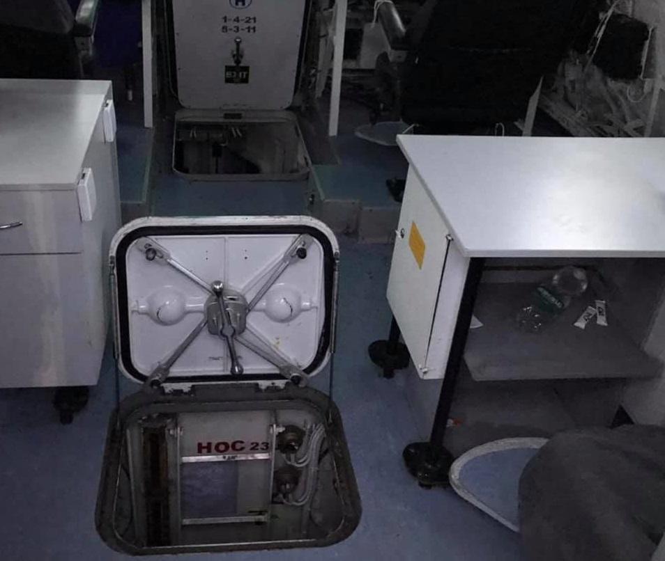 Россияне украли оружие, повредили корабли и фактически уничтожили сливные системы / facebook.com/MatiosAnatolii