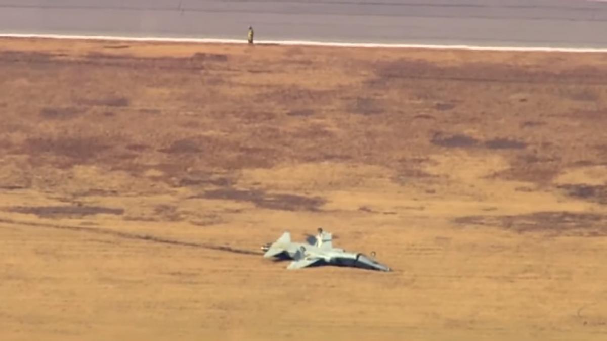 В результате авиакатастрофы погибли два пилота/ скриншот