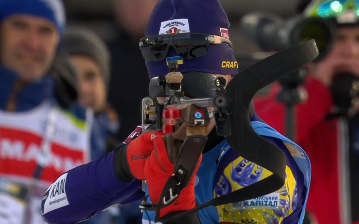 Украинская сборная финишировала четвертой / фото: twitter.com/biathloncomua