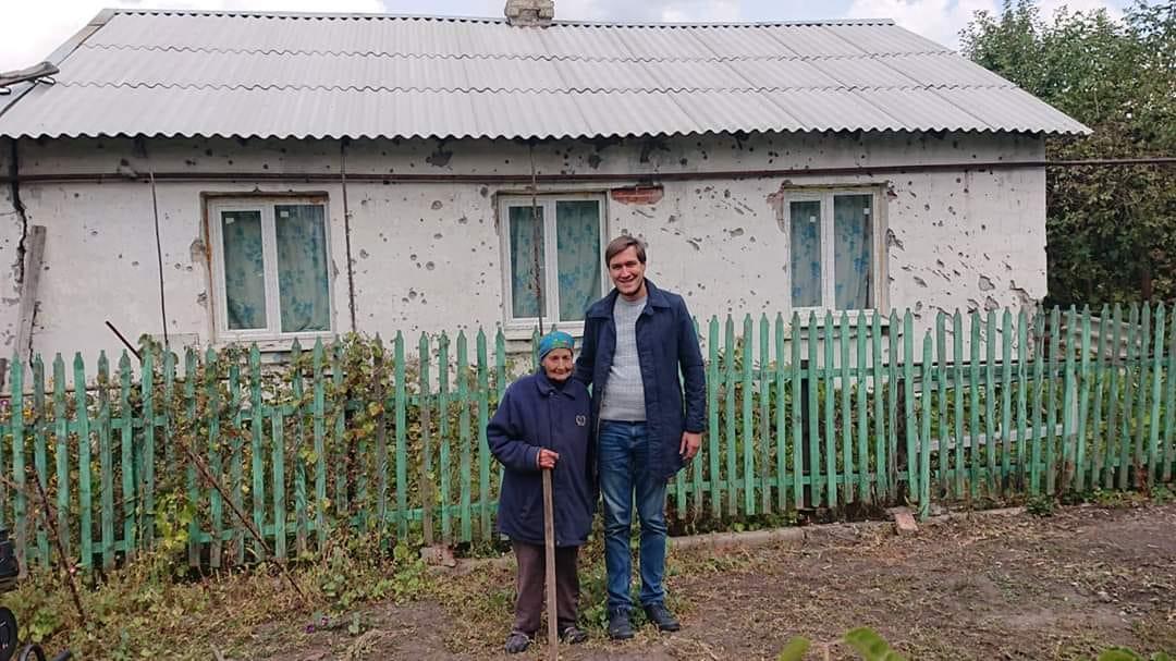 Сотрудники гуманитарной миссии уверены, что хозяйка дома погибла во время пожара/ Евгений Каплин/Facebook