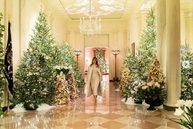 Мелания Трамп украсила резиденцию к Рождеству / фото instagram.com/flotus/