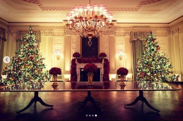 Первая леди США заказала сразу несколько елок / instagram.com/flotus/