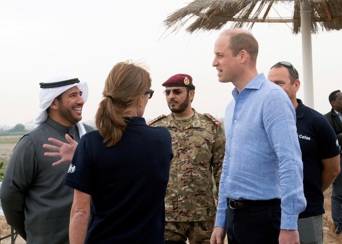 Принц Уильям в Кувейте / фото REUTERS
