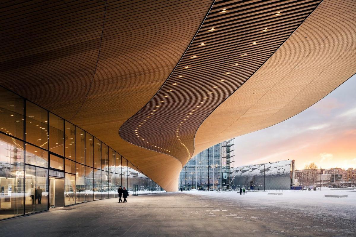 Новая центральная библиотека Хельсинки многофункциональная / фото оodihelsinki.fi