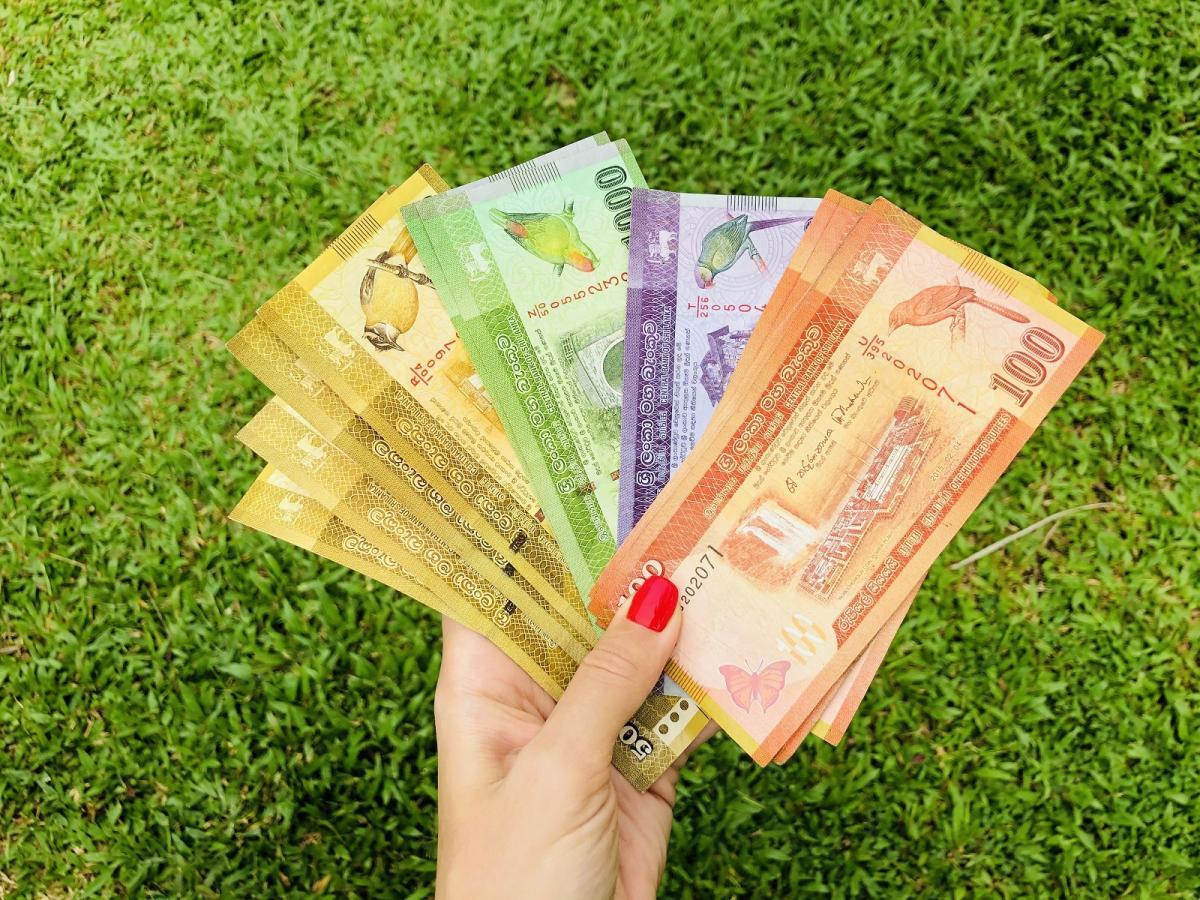 Местная валюта - шри-ланкийская рупия - очень красивая / Фото Вероника Кордон