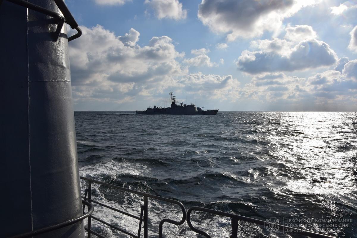 Кораблі відпрацювали низку завдань з підвищення сумісності / фото navy.mil.gov.ua