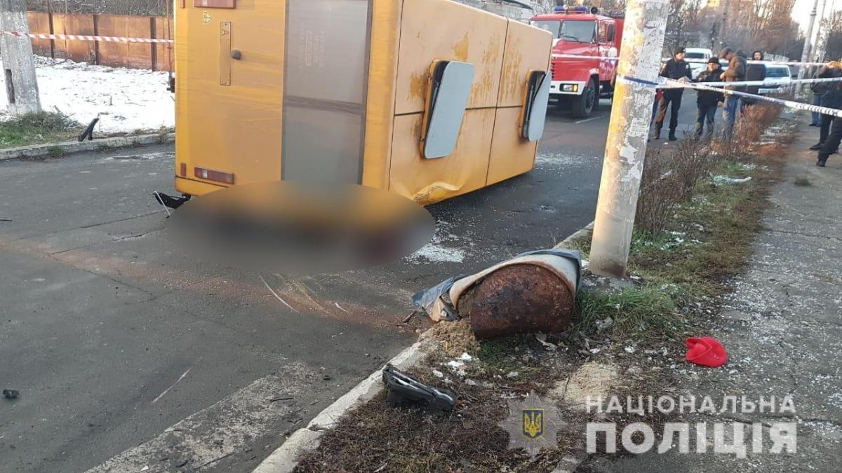 В Буче произошла смертельная авария / facebook.com/pol.kyivregion