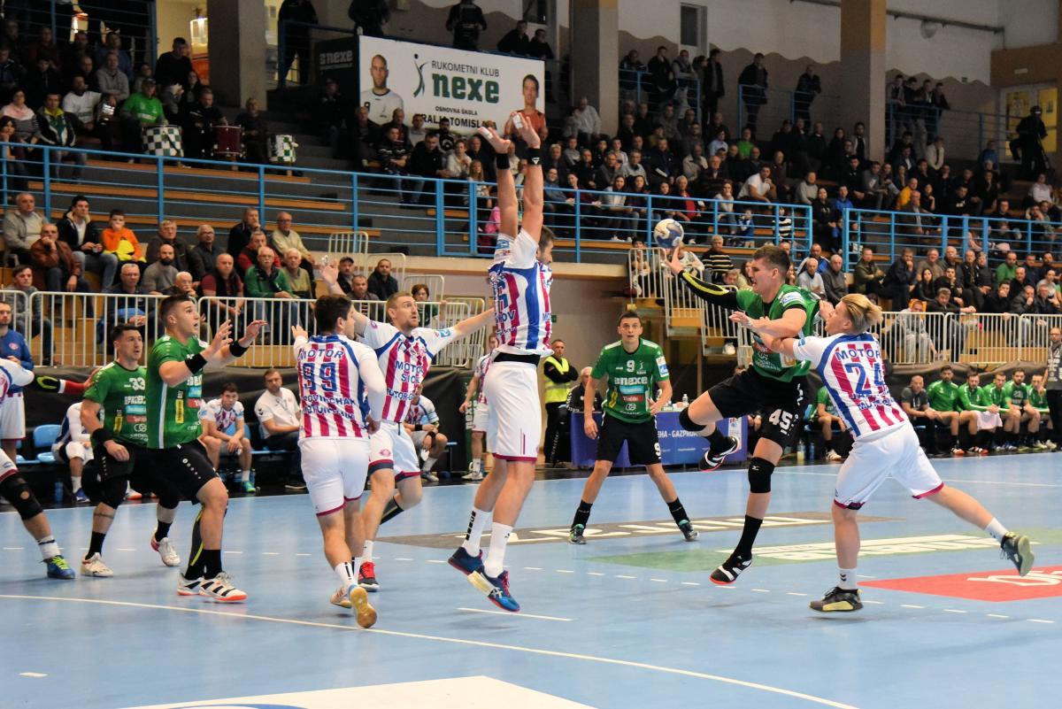Нексе - Мотор - 25:28 / фото: handball.motorsich.com