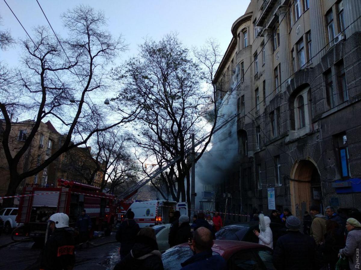 В результате пожара один человек погиб / фото: Думская