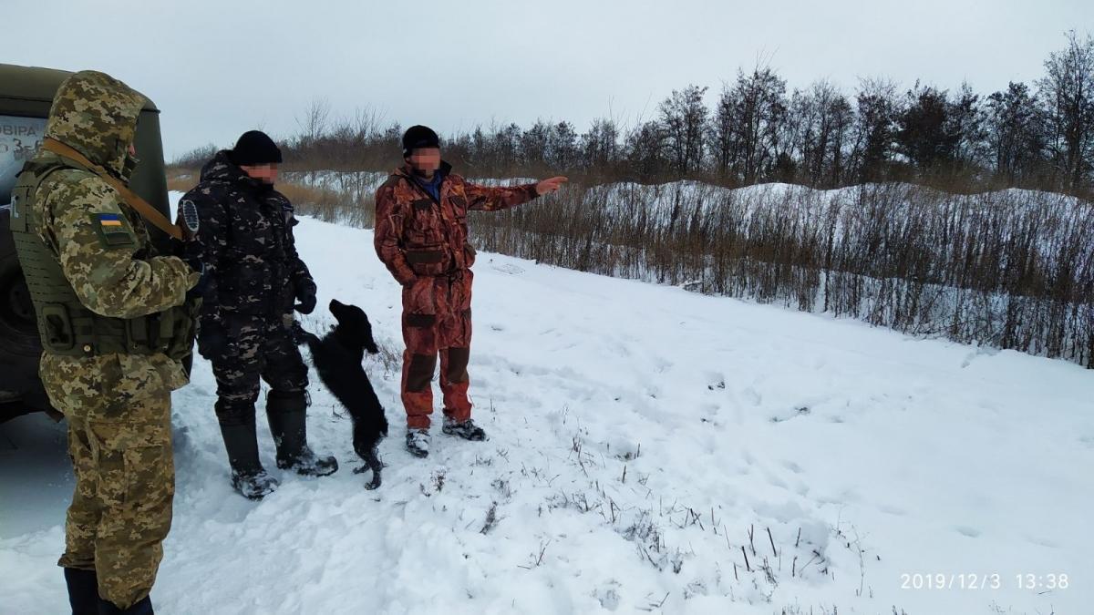 Прикордонники затримали двох росіян-мисливців / Фото: ДПСУ