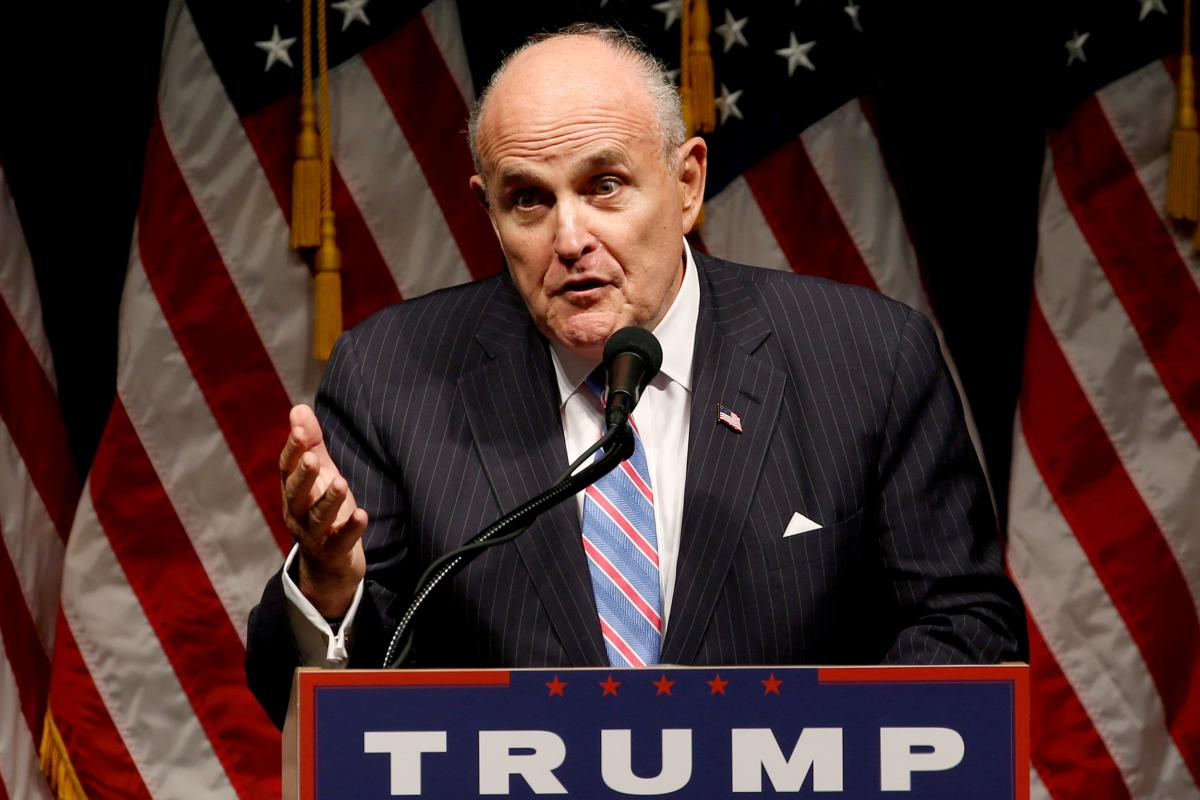 Rudy Giuliani will file report on findings from Ukraine, Trump says