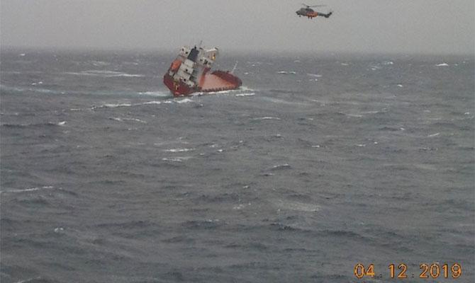Судно New Leo отримало крен, відбулося зміщення вантажу / фото maritimebulletin.net