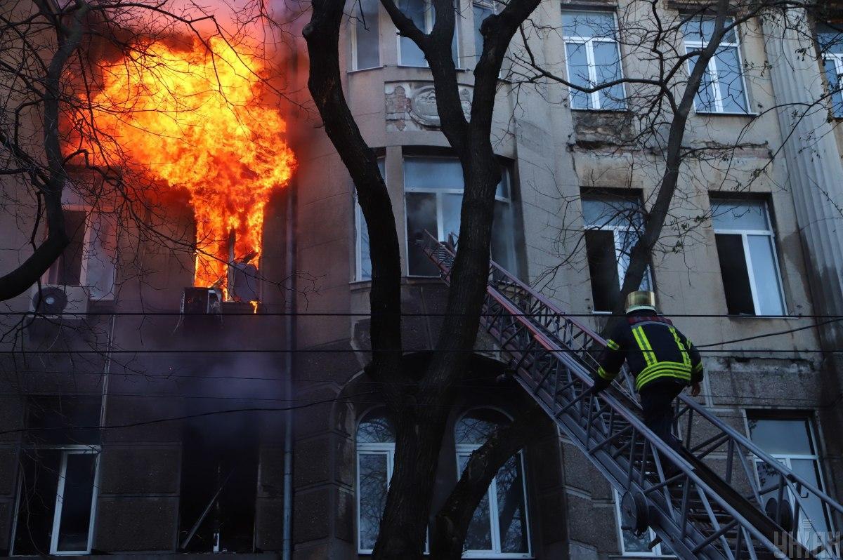 Пожар в колледже произошел 4 декабря / фото УНИАН