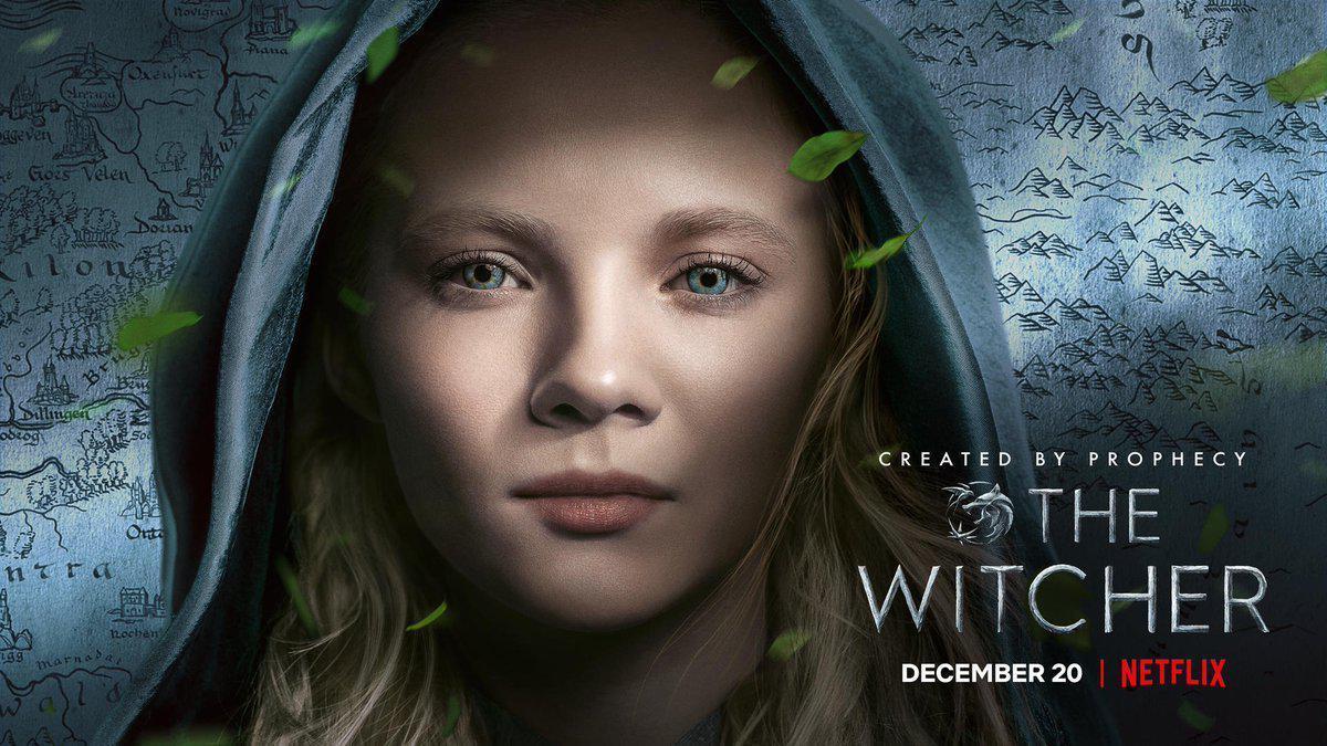 Постер головної героїні Цирі\ twitter.com/witchernetflix