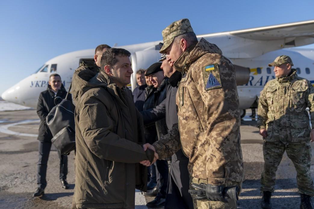 Зеленский находится на Донбассе \ president.gov.ua
