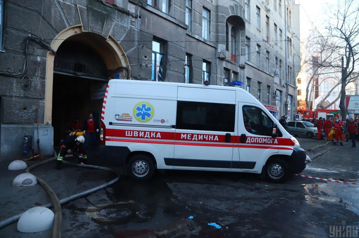 В результате пожара в колледже в Одессе пострадало более 30 человек / фото УНИАН