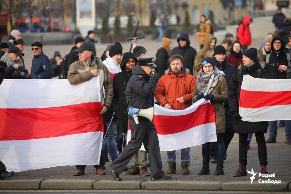 ВМинске проходят акции протеста против интеграции сРоссией