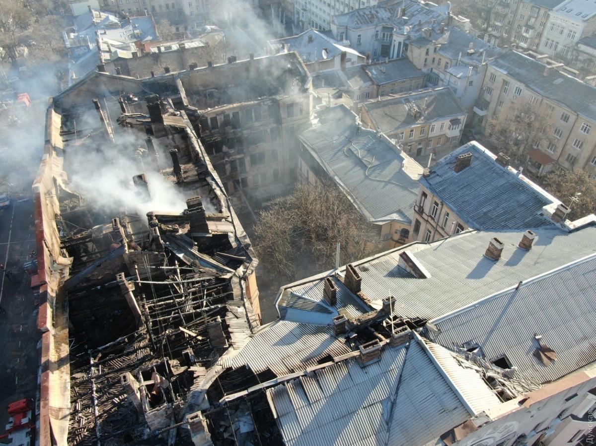 Колледж в Одессе после пожара / фото glavcom.ua
