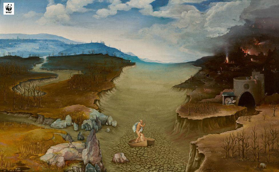 Этой работой экологи обратили внимание на засуху \ WWF SPAIN / MUSEO DEL PRADO