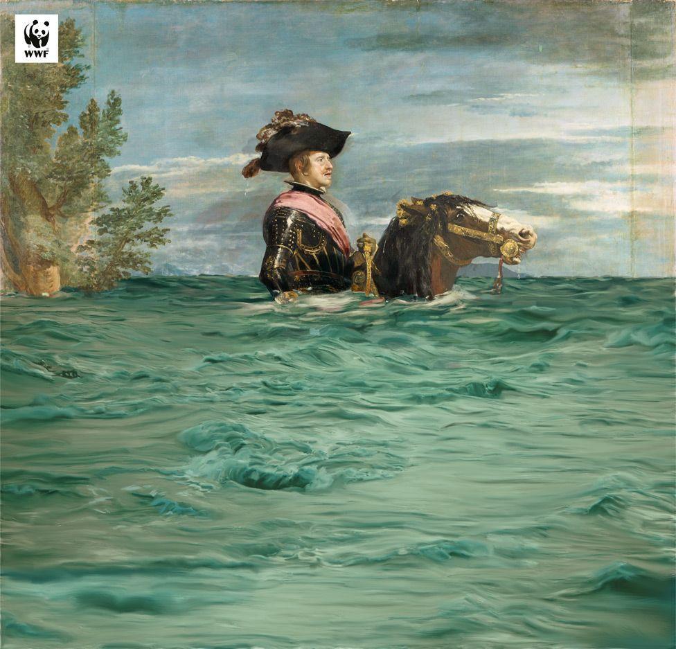 Интерпретация привлекает внимание к поднятию уровня моря \ WWF SPAIN / MUSEO DEL PRADO